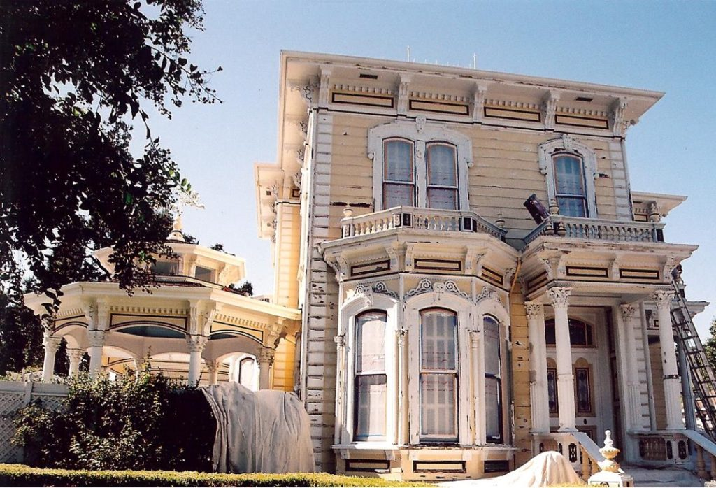 Italianate Victorian historic house painting restoration Woodland CA Easton Painting